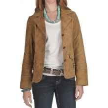 Scully Contrast Stitch Frontier Jacket - Leather (For Women) in Maple - Closeouts