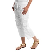 Scully Crinkle Cargo Capris (For Women) in White - Closeouts
