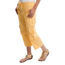 Scully Crinkle Cargo Capris (For Women) in Yellow - Closeouts