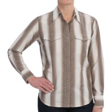 Scully Donagle Stripe Shirt - Long Sleeve (For Women) in Brown - Closeouts