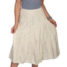 Scully Eyelet and Crochet Skirt (For Women) in Ivory - Closeouts