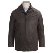 Scully Frontier Leather Car Coat - Removable Storm-Flap Liner (For Big Men) in Brown - Closeouts