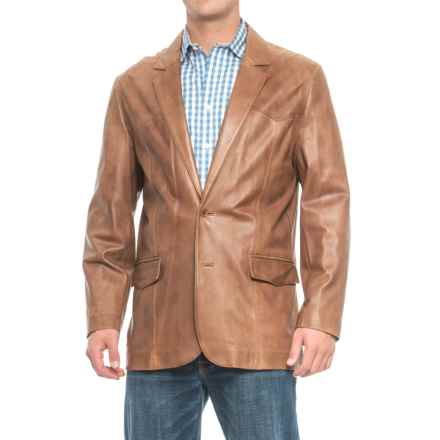 Scully Hand-Rubbed Leather Blazer (For Men) in Antique Brown - 2nds