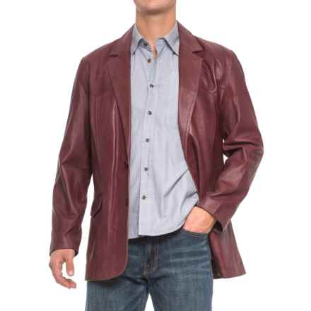 Scully Hand-Rubbed Leather Blazer (For Men) in Black Cherry - 2nds