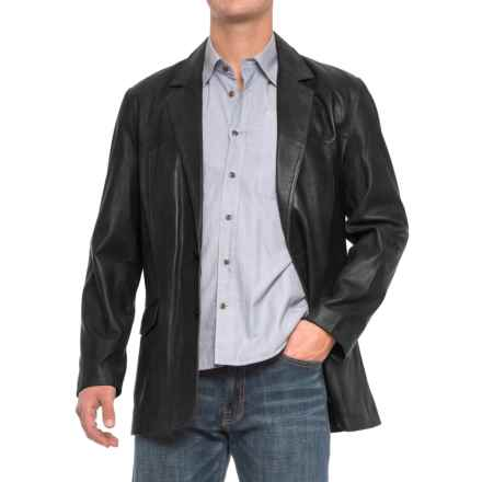 Scully Hand-Rubbed Leather Blazer (For Men) in Black Lamb - 2nds