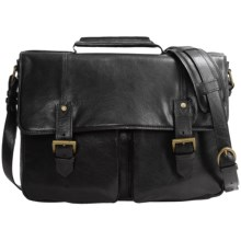 Scully Hidesign Leather Double Buckle Workbag in Black - Closeouts