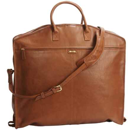 Scully Hidesign Waterford Calf Leather Garment Bag in Tan - Closeouts