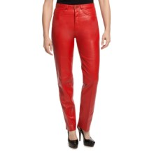 Scully Italian Lamb Leather Pants (For Women) in Red - Closeouts