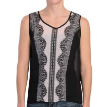 Scully Lace Trim Tank Top (For Women) in Black - Closeouts