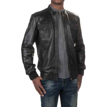 Scully Lamb Leather Bomber Jacket (For Men) in Black - Closeouts