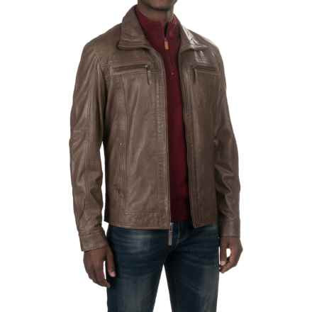 Scully Lamb Leather Jacket (For Men) in Chocolate - Closeouts