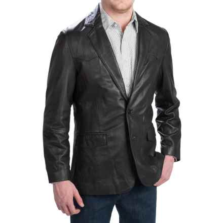 Scully Lambskin Leather Blazer (For Men) in Black - Closeouts