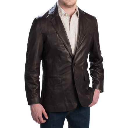 Scully Lambskin Leather Blazer (For Tall Men) in Brown - 2nds