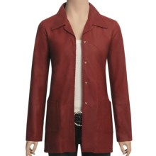 Scully Lambskin Leather Shirt Jacket (For Women) in Red - Closeouts