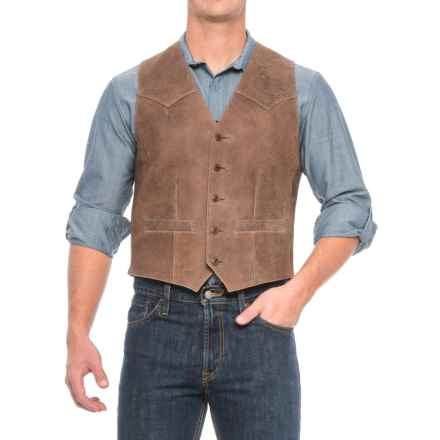 Scully Lambskin Vest - Button Front (For Men) in Brown - Closeouts