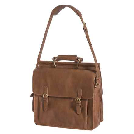 Scully Leather Briefcase in Tan - Closeouts