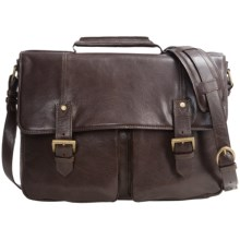 Scully Leather Double Buckle Workbag in Brown - Closeouts