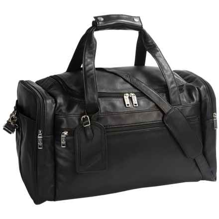 Scully Leather Duffel Bag in Black - Closeouts