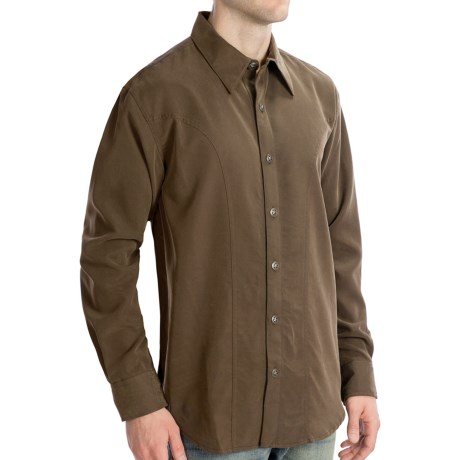 Scully Lifestyle Polynosic Shirt - Long Sleeve (For Men) in Merlot