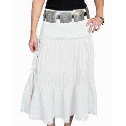 Scully Long Tiered Skirt - Peruvian Cotton (For Women) in White