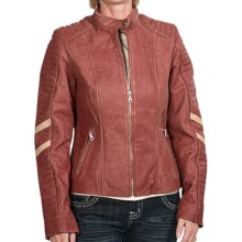 Scully Motorcycle Jacket - Sanded Calfskin (For Women) in Red - Closeouts