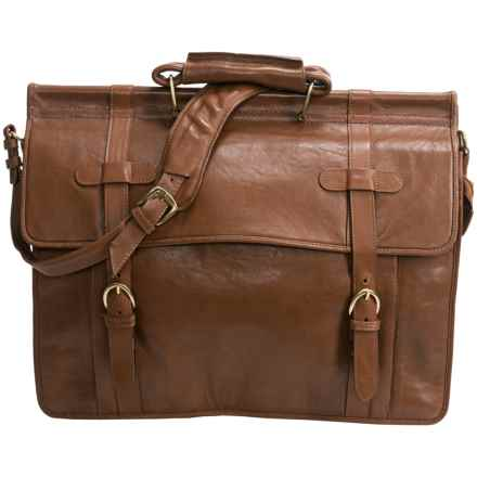 Scully Roma Double Flap Overnight Briefcase in Tan - Closeouts