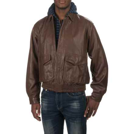 Scully Rugged Jacket - Lambskin Leather (For Men) in Chocolate - Closeouts
