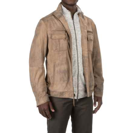 Scully Shadow Suede Coat - Lambskin (For Men) in Tan Shadow - Closeouts