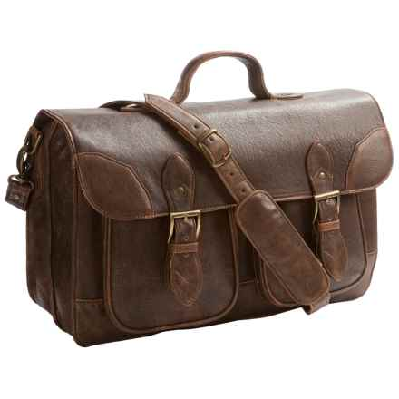 Scully Sierra Smooth Lamb Leather Briefcase in Cognac - Closeouts