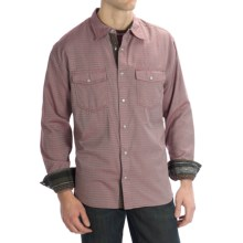 Scully Signature Diamond Dobby Stripe Shirt - Snap Front, Long Sleeve (For Men) in Rust - Closeouts