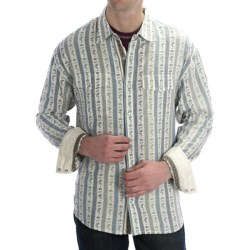 Scully Signature Paisley Stripe Shirt - Snap Front, Long Sleeve (For Men) in Natural