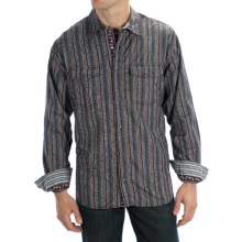 Scully Signature Raise Dot Scroll Shirt - Snap Front, Long Sleeve (For Men) in Grey - Closeouts