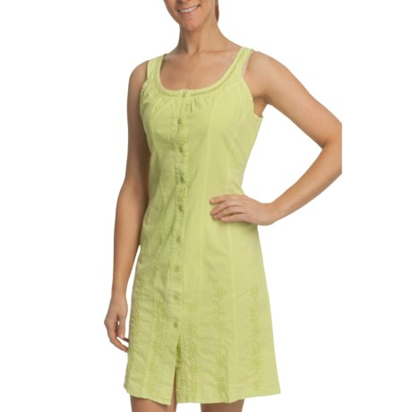 Scully Southern Belle Pamela Tank Dress - Pima Cotton, Sleeveless (For Women) in Lime