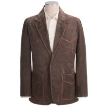 Scully Suede Leather Blazer - Whipstitched (For Men) in Chocolate - Closeouts