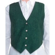 Scully Suede Vest (For Women) in Spruce Boar Suede - Closeouts