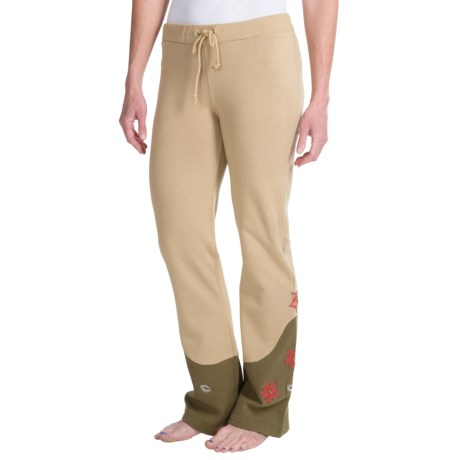Scully Sweat Pants (For Women) in Khaki W/Floral