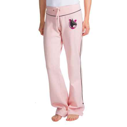 Scully Sweat Pants (For Women) in Pink W/Horseshoe - Closeouts