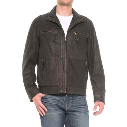Scully Textured Leather Jacket (For Men) in Black - Closeouts