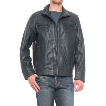 Scully Textured Leather Jacket (For Men) in Blue - Closeouts