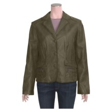 Scully Three-Button Leather Jacket (For Women) in Green - Closeouts
