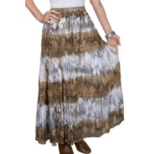 Scully Tie-Dye Stencil Skirt - Peruvian Cotton (For Women) in Tan - Closeouts