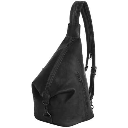 Scully Travel Sling Backpack - Leather in Black - Closeouts