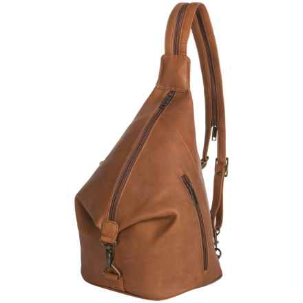 Scully Travel Sling Backpack - Leather in Tan - Closeouts