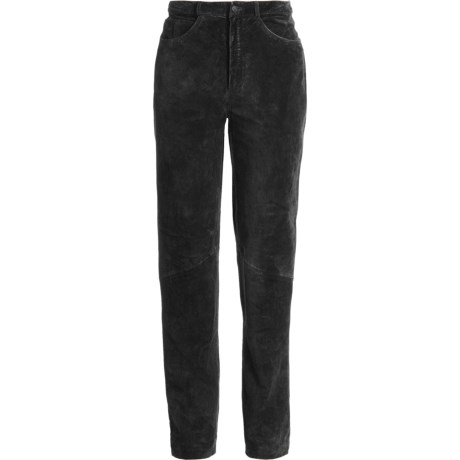Scully Washable Suede Pants - Tapered Leg (For Women) in Black