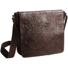Scully Washed Leather Messenger Bag in Brown - Closeouts