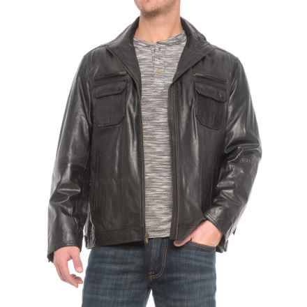 Scully Zip-Front Leather Jacket (For Men) in Black - Closeouts