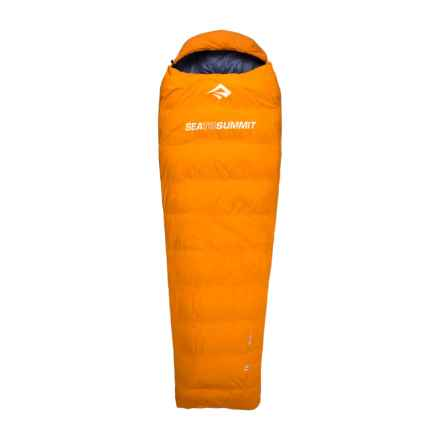 Sea to Summit 32°F Trek TK I Down Sleeping Bag - Long, Mummy, Left-Hand Zip, 650+ Fill Power in Orange