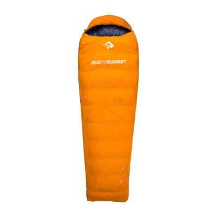 Sea to Summit 32°F Trek TK I Down Sleeping Bag - Mummy, Left-Hand Zip, 650+ Fill Power in Orange