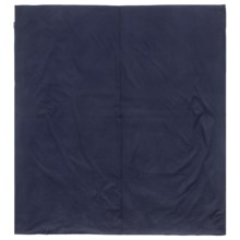 Sea to Summit Premium Cotton Travel Liner - Rectangular, Extra Wide in Navy Blue - Closeouts