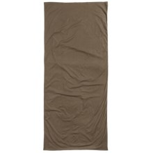 Sea to Summit Premium Cotton Travel Liner - Rectangular, Long in Kangaroo Brown - Closeouts
